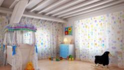Ein schön eingerichtetes Kinderzimmer